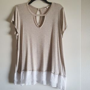 Maurices Choker Top with Lace Size XL